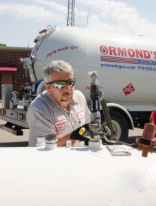 ormond technician delivering fuel